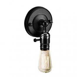 Vintage Light Holder E27 Edison Retro Wandleuchte mit Schalter für den Heimgebrauch und Dekoration 220V Silber(Schwarz) - 1