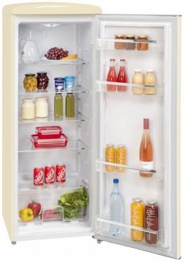 Vollraum Kühlschrank Retro EEK A++ 229l Weiß Kühlschrank ohne Gefrierfach