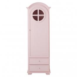 Wäscheschrank aus Holz, B 62cm, rosa