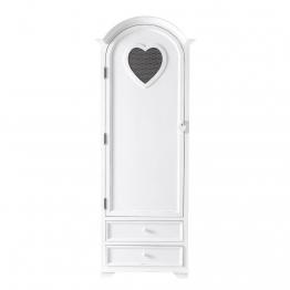 Wäscheschrank aus Holz, weiß, B74 Valentine