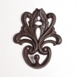Wandhaken ´´Art Nouveau´´, antik-braun, B 10 cm, H 12,5 cm