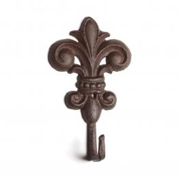 Wandhaken ´´Fleur-de-Lys´´ Modell B, antik-braun, B 10 cm, H 17 cm
