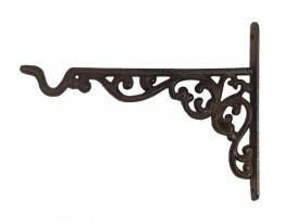 Wandhalterung für Blumenampel Blumentopf Haken Gusseisen Antik-Stil Braun