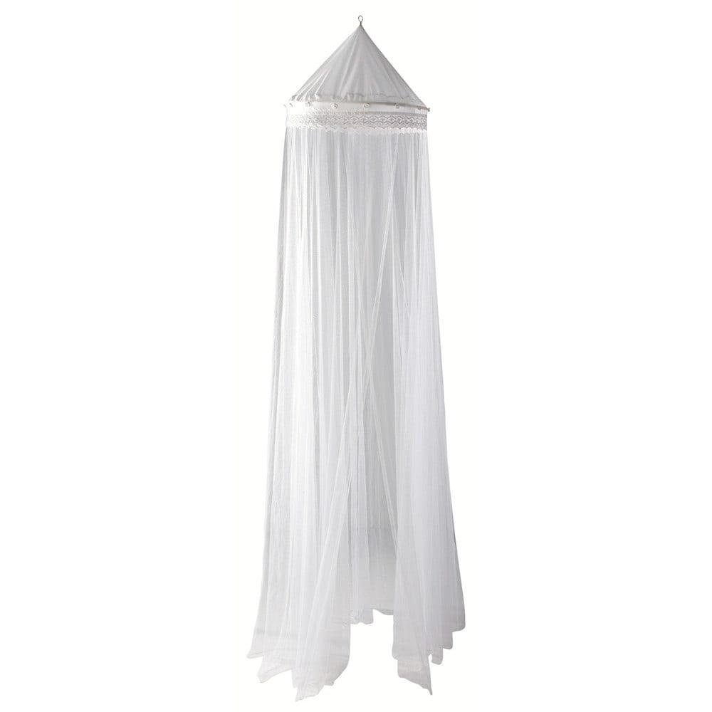 Weißer Betthimmel
