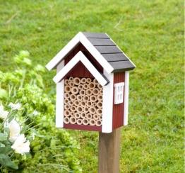 Wildlife Garden BIENENHOTEL Nistkasten rot Holz