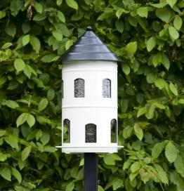 Wildlife Garden GIGANT Futterstation Vogelhaus Nistkasten weiß Metall