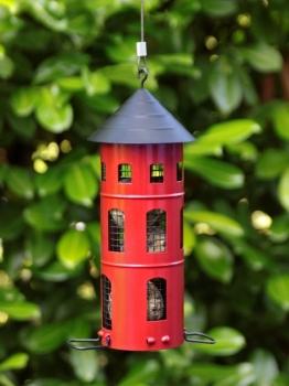 Wildlife Garden KOMBI-HAUS Vogelhaus Nistkasten rot Metall
