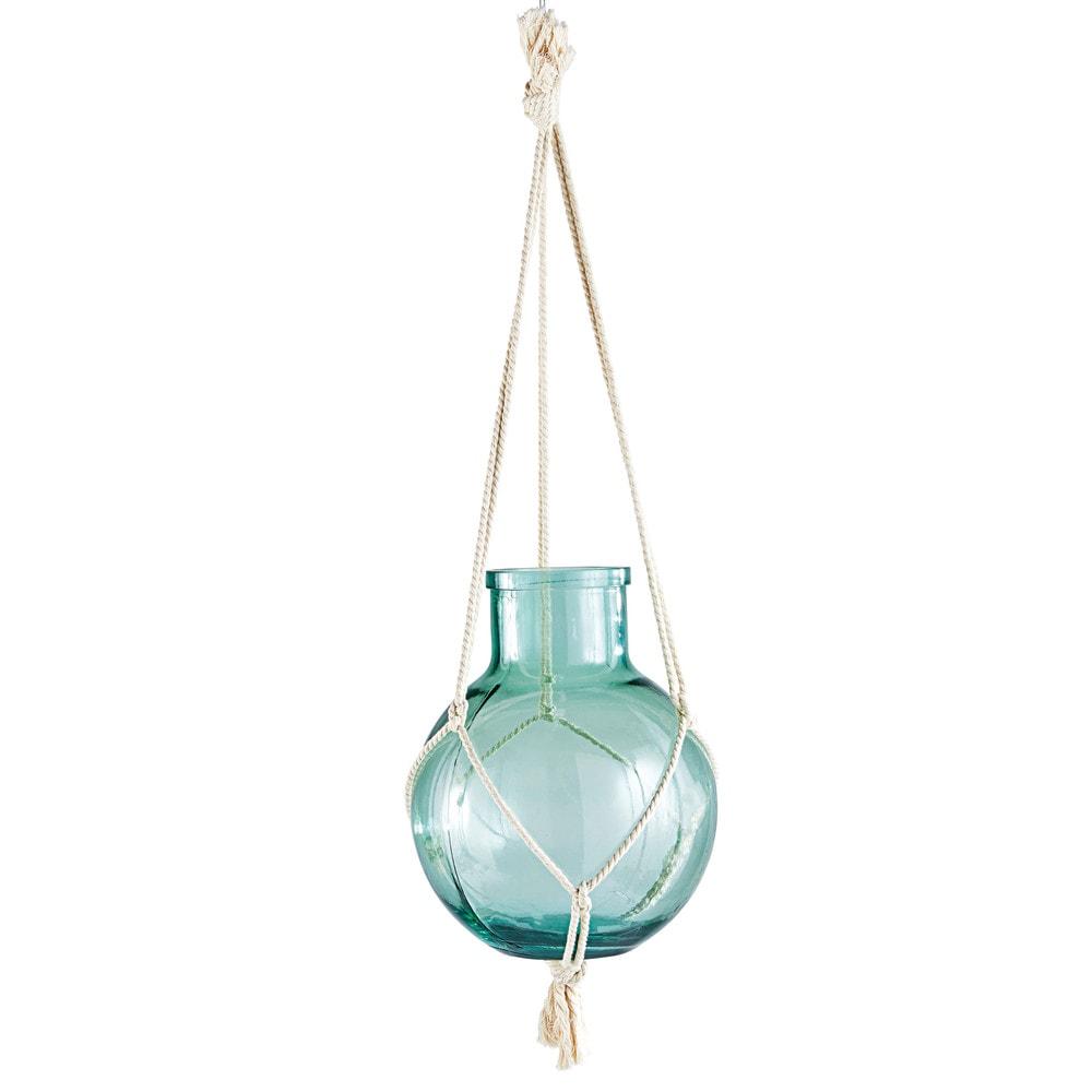 windlicht zum h ngen aus glas und makramee shop ambiente mediterran. Black Bedroom Furniture Sets. Home Design Ideas