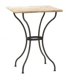 WMG Gartentisch DUBLIN Eisen mit Steinplatte quadratisch