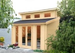 Wolff Finnhaus Gartenhaus Langeoog 40 mit Isolierverglasung