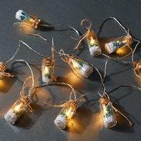 X-MAS LIGHTS LED Lichterkette Einmachgläser mit Tanne 10 Lichter