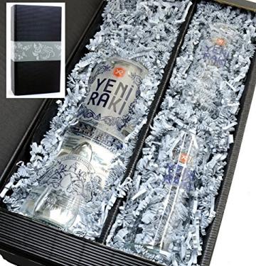 Yeni Raki 45% 0,7l - Set mit 2 Gläser 0,1l in Geschenkkarton - 1