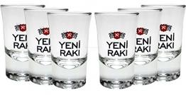 Yeni Raki Shotgläser 6er Set - 2cl geeicht - 1