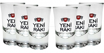 Yeni Raki Shotgläser 6er Set ; 2cl geeicht
