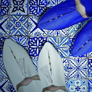 YVES Hamburg Marrakech - orientalische Babouches Leder (40 EU, schwarz) - 3