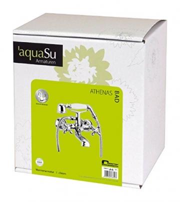 Zweigriffmischer Athenas für Wanne inklusive Brausegarnitur | Chrom | Wasserhahn | Badewannenarmatur | Wannenbatterie - 5
